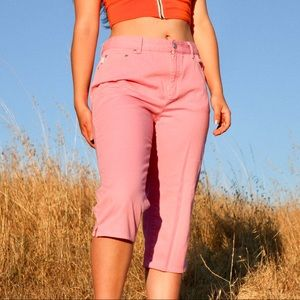 Vintage Candy Pink Ralph Lauren Cropped Jeans